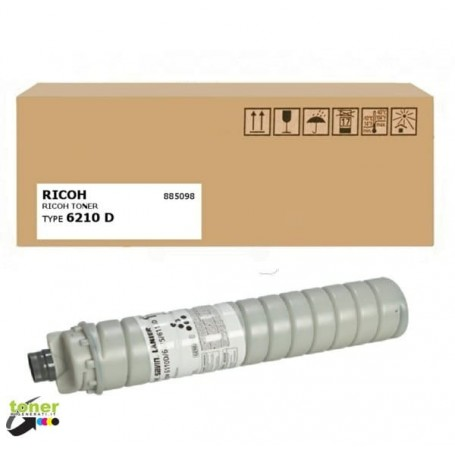 Toner originale Ricoh Type 6210d - 885098 nero per Aficio 1060, MP 7000, 9002